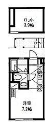 ハーミットクラブハウス山手[2階]の間取り