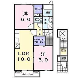 ステージ芦田川B[2階]の間取り