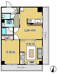 コルテージュII[3階]の間取り