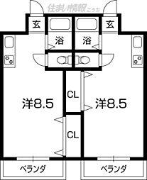 昌世マンションI[201号号室]の間取り
