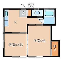 長崎荘[102号室]の間取り