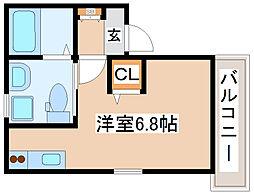 JR山陽本線 新長田駅 徒歩5分の賃貸アパート 1階ワンルームの間取り