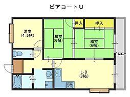 ピアコートU[6階]の間取り