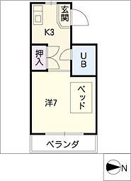 ビジネスマンション太平洋[4階]の間取り