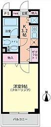 神奈川県大和市深見台3丁目の賃貸マンションの間取り