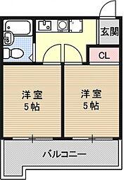 アメニティー京都二番館[6E号室号室]の間取り