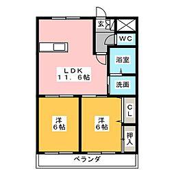 スカイふじ[2階]の間取り