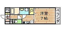 ゼファー東大阪[10階]の間取り