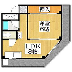 長谷川ビル[3A号室]の間取り