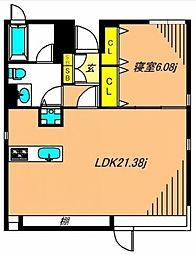 DENFLAT南平台[4階]の間取り