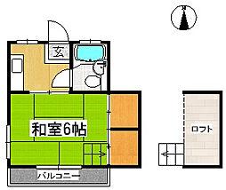 コーポニューリーフ[2階]の間取り