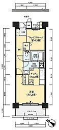 フロール川崎下平間1番館[907号室]の間取り