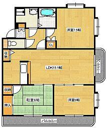 スカイビュー高須台[2階]の間取り