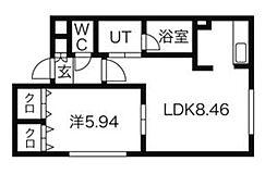 クリアーフィールド[3階]の間取り