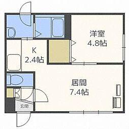 ローヤルハイツ栄通1丁目A棟[3階]の間取り