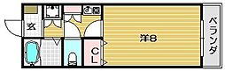 大阪府茨木市奈良町の賃貸マンションの間取り