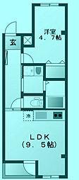 宿河原マンション[3階]の間取り