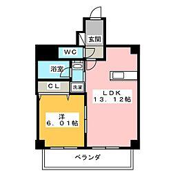 ベルカーサ西大須[2階]の間取り