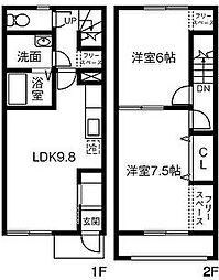 [テラスハウス] 東京都八王子市楢原町 の賃貸【/】の間取り