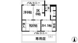兵庫県川西市寺畑2の賃貸マンションの間取り