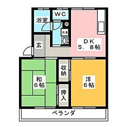 コーポタナカ[2階]の間取り