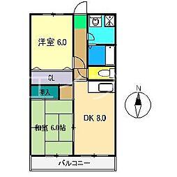 ハイツベル[2階]の間取り