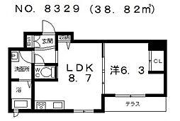 天王寺区シャーメゾン東上町計画[1階]の間取り