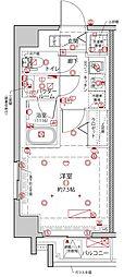 都営浅草線 東日本橋駅 徒歩8分の賃貸マンション 3階1Kの間取り