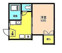 ロイヤルハイツ斉藤[105号室]の間取り