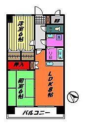 グランドールマンション[7階]の間取り