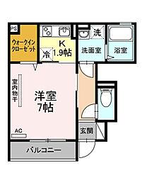 フェンテ前野II[1階]の間取り