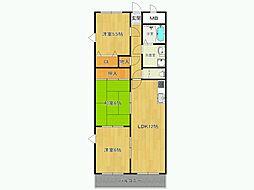 コーラル武庫之荘[2階]の間取り