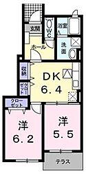 R150 FUKUDE[102号室]の間取り