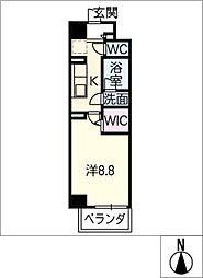 プライム松原[6階]の間取り