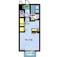 ソレイユK[107号室]の間取り