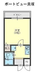 Rinon 脇浜[402号室]の間取り
