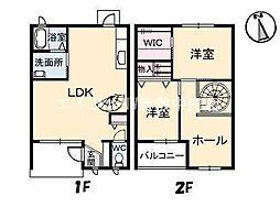 [テラスハウス] 岡山県倉敷市四十瀬丁目なし の賃貸【/】の間取り