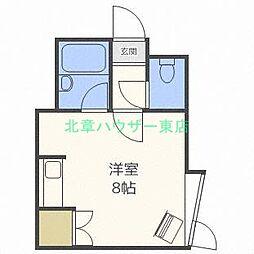 北海道札幌市東区北三十一条東2丁目の賃貸アパートの間取り