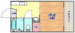 兵庫県神戸市灘区備後町2丁目の賃貸アパートの間取り