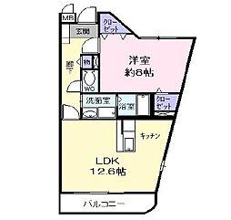 東京都羽村市羽東3丁目の賃貸マンションの間取り