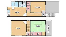 [一戸建] 兵庫県神戸市須磨区緑が丘2丁目 の賃貸【/】の間取り