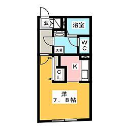 MTM東別院 5階1Kの間取り