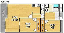 グリーンスクエアー新北島2号棟[3階]の間取り