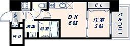 オリエンテム 7階1DKの間取り