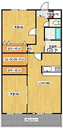 サンメゾン松井[2階]の間取り