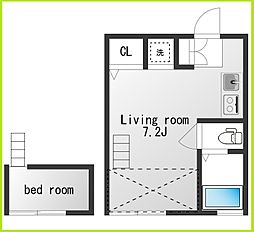 チトカラアパートメント[103号室]の間取り
