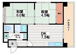 和泉シティーハイツ[4階]の間取り