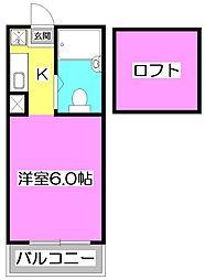 東京都練馬区石神井町7丁目の賃貸アパートの間取り