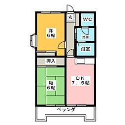 パインクレスト 1[3階]の間取り