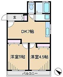 メゾン浅嘉[2階]の間取り
